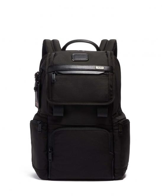 Rucksack mit Überschlag Schwarz