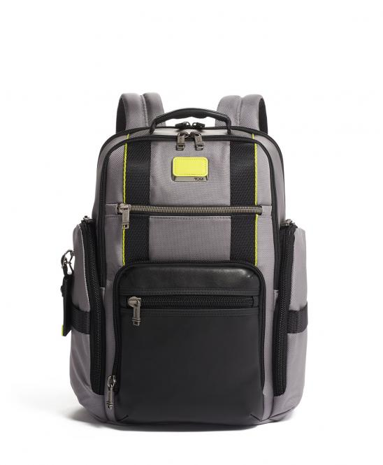 Sheppard Deluxe Brief Pack Rucksack Grey/Bright Lime