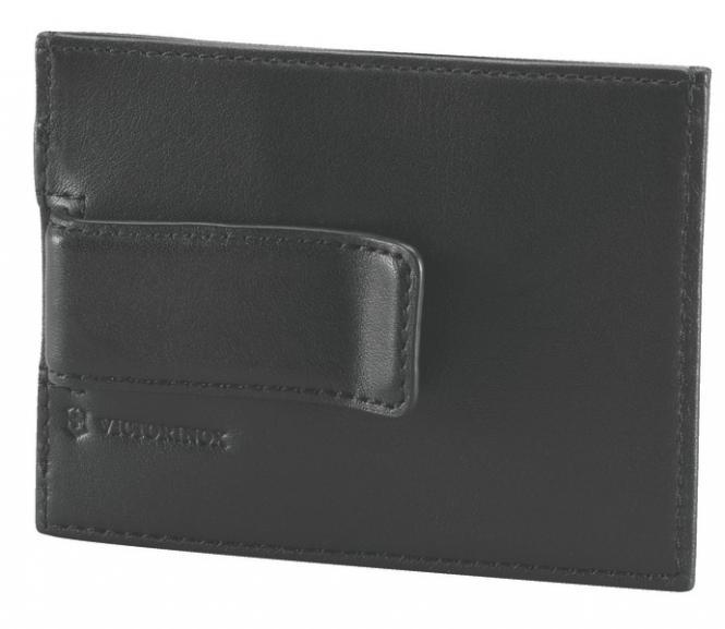 Rome Geldklammer aus Leder, Schwarz