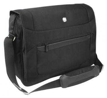 Messenger Bag mit Laptopfach 15 Zoll Schwarz