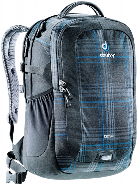 deuter giga rucksack school daypack 15 6 blueline check. Black Bedroom Furniture Sets. Home Design Ideas