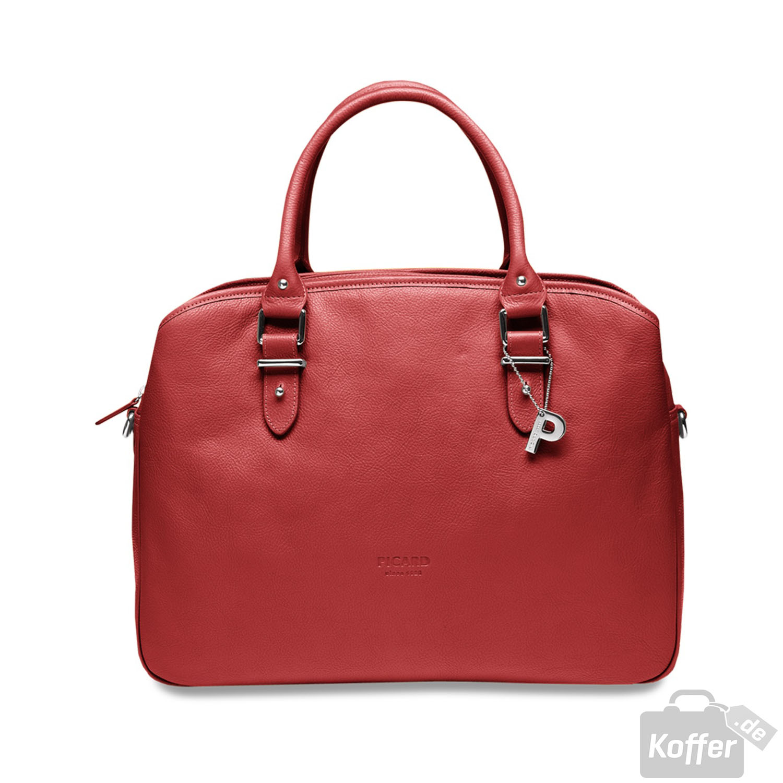 picard busy damenshopper leder 31cm rot jetzt auf koffer. Black Bedroom Furniture Sets. Home Design Ideas