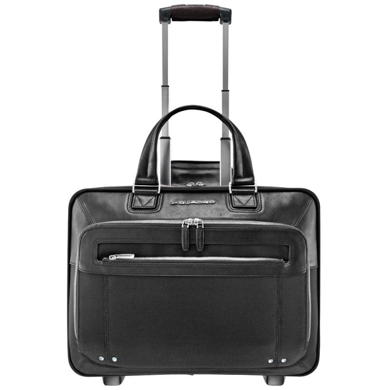 piquadro link overnight tasche auf rollen mit laptopfach black jetzt online kaufen bei. Black Bedroom Furniture Sets. Home Design Ideas