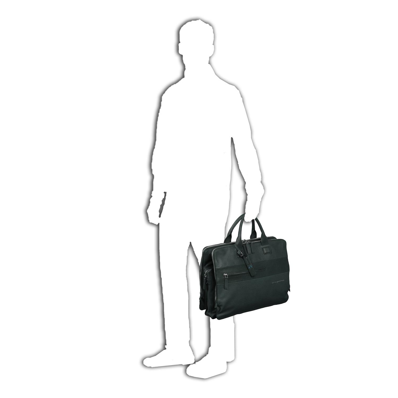 piquadro laszlo doppelgriff laptoptasche mit drei. Black Bedroom Furniture Sets. Home Design Ideas