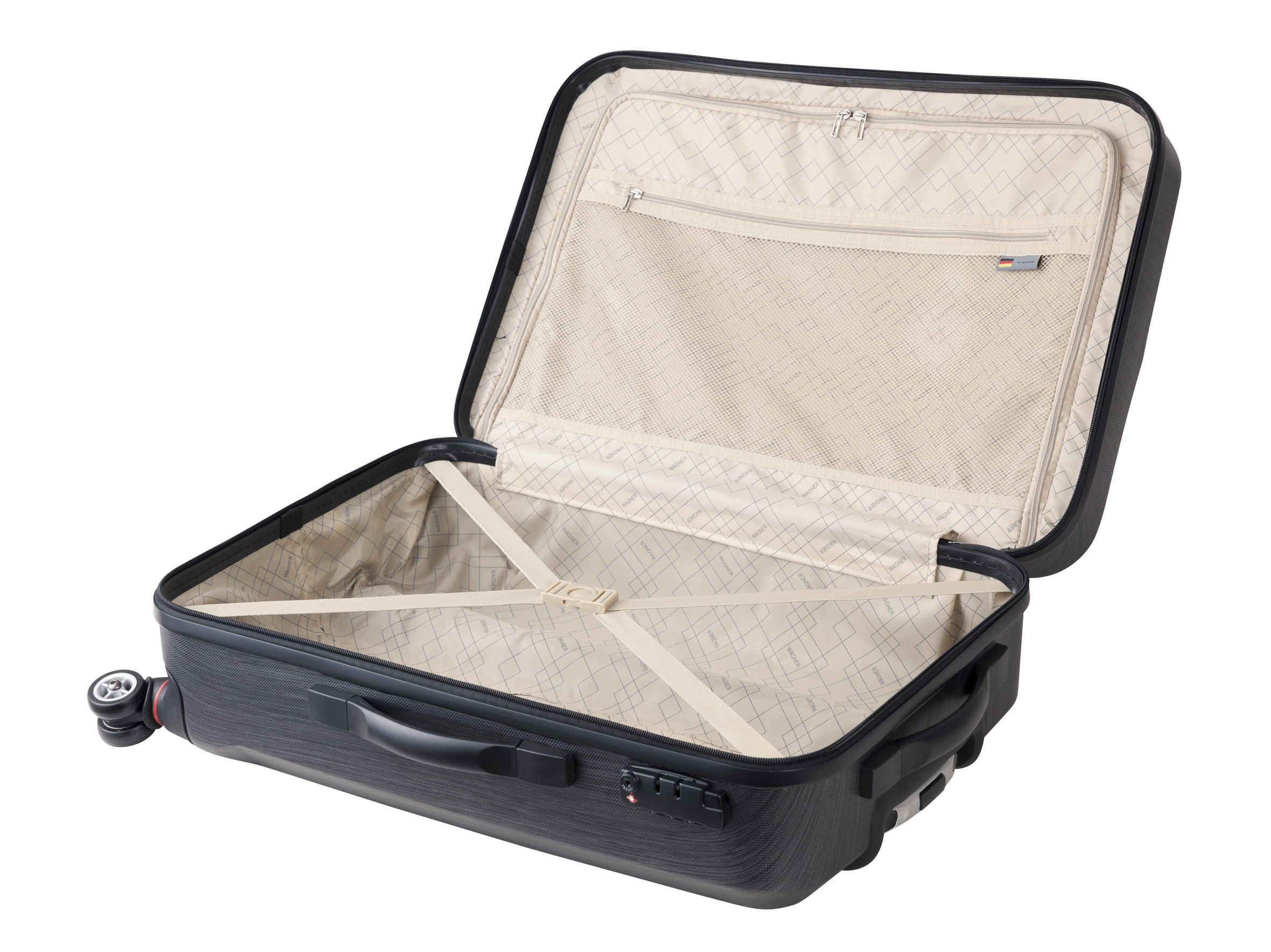 Wagner luggage casino trolley l schwarz