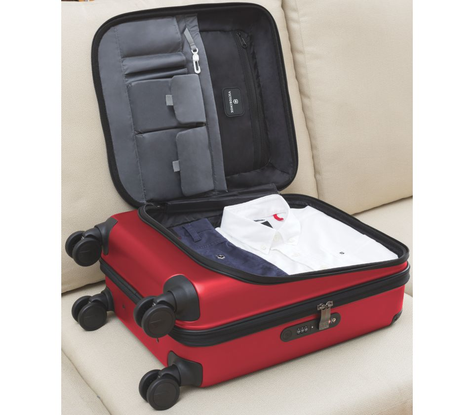 victorinox spectra 2 0 dual access global carry on rot. Black Bedroom Furniture Sets. Home Design Ideas