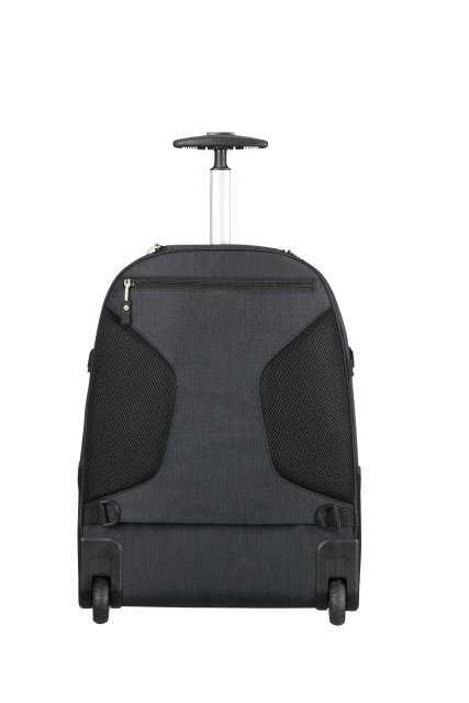 samsonite rewind laptop rucksack 2 rollen 55cm black. Black Bedroom Furniture Sets. Home Design Ideas